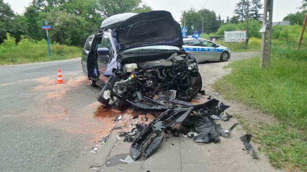 Wypadek na Targówku, pasażer w szpitalu