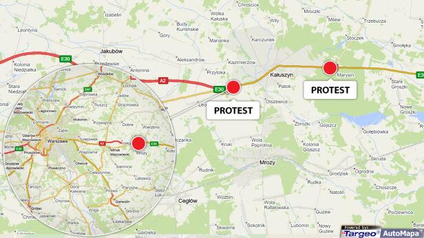 Mieszkańcy będą protestować w okolicach Kałuszyna tvn24.pl/targeo