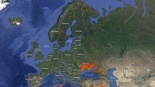 """""""Ekstremalne zagrożenie"""". Pożary nękają Europę"""