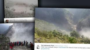 W Nepalu osuwisko utworzyło tamę. Fala powodziowa może dojść do Indii