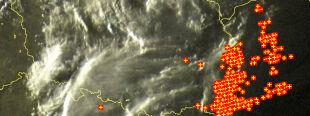 Grzmi nad Polską. Gwałtowne burze w okolicach Tarnobrzegu